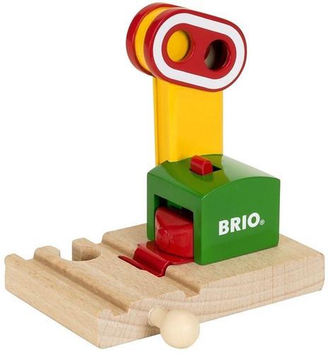 Brio Holz Eisenbahn Zubehör Magnetische Bahn-Ampel 33868