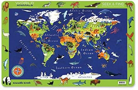 Crocodile Creek Placemats/World Animals