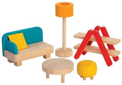 Plan Toys  Holz Puppenhaus Möbel Wohnzimmer