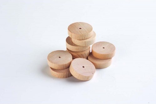 TickiT Smooth Wooden Wheel 40Mm Dia.