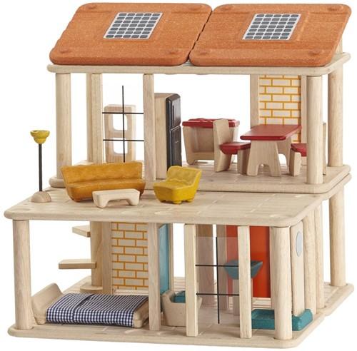 Plan Toys  Holz Puppenhaus Kreatives Spielhaus