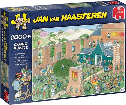 Jumbo puzzel Jan van Haasteren De Kunstmarkt - 2000 stukjes