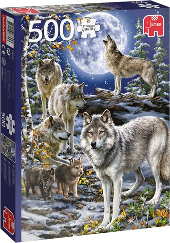 Jumbo PC Wolf Pack in Winter (500)