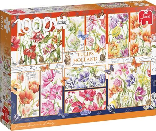 Jumbo puzzel Janneke Brinkman: Nederlandse Tulpen - 1000 Stukjes