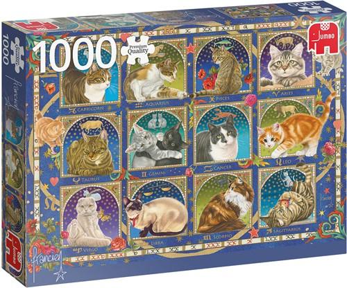 Jumbo puzzel Horoscoop - Katten - 1000 stukjes
