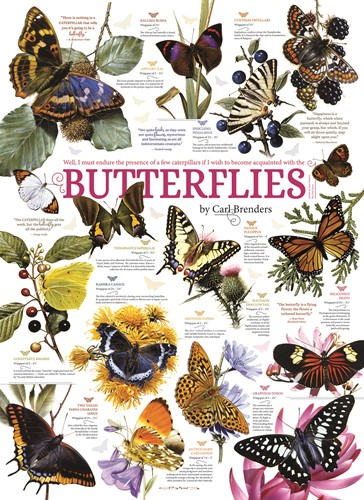 Cobble Hill puzzle 1000 Teile - Butterfly Collection