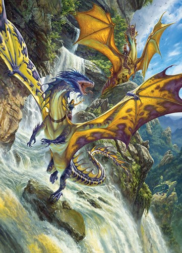 Cobble Hill puzzle 1000 Teile - Waterfall Dragons