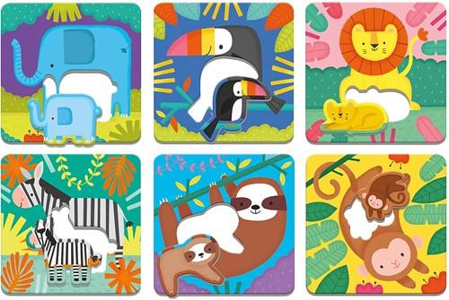 Mudpuppy Match-Up Puzzle/Jungle Babies