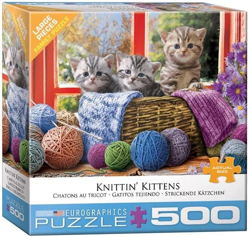 Eurographics Puzzle Knittin' Kittens - 500 XL Teile