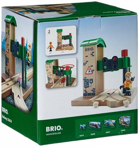Brio Holz Eisenbahn Gebäude Signal Station 33674-2