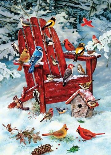 Cobble Hill puzzle 1000 Teile - Adirondack Birds