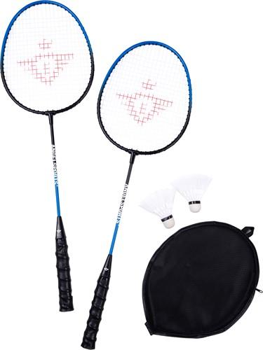 Angel Sports 857030 Badmintonschläger Schwarz, Blau Stahl 2 Stück(e)