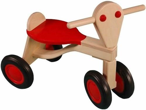 Van Dijk Toys Holz Laufrad Rot - Birke