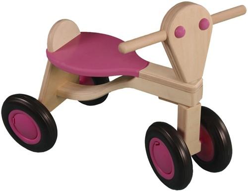 Van Dijk Toys Holz Laufrad Rosa - Birke