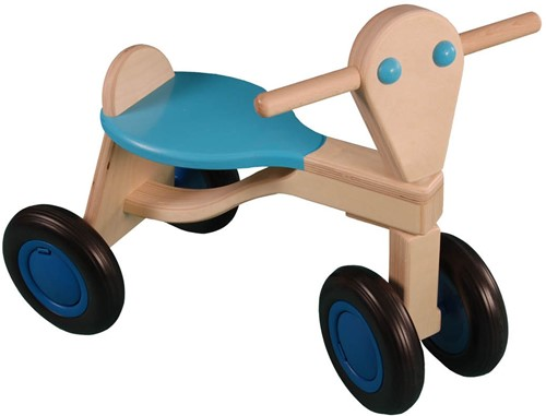 Van Dijk Toys Holz Laufrad Hellblau - Birke