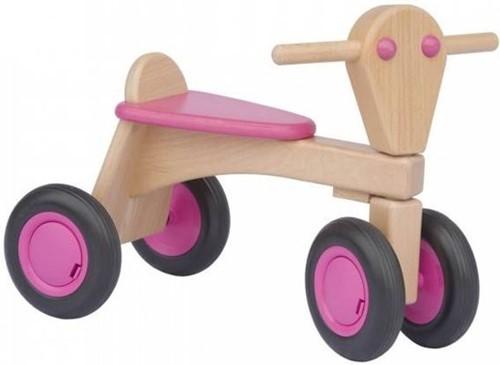Van Dijk Toys Holz Laufrad Rosa - Buche