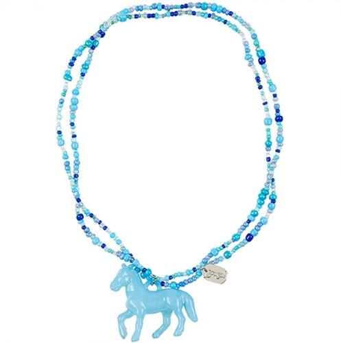 Souza - Sieraden - Necklace Coriane, blue, fully elastic
