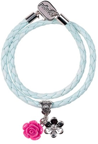 Souza - Sieraden - Bracelet Karien, 2 strands with charms light-blue