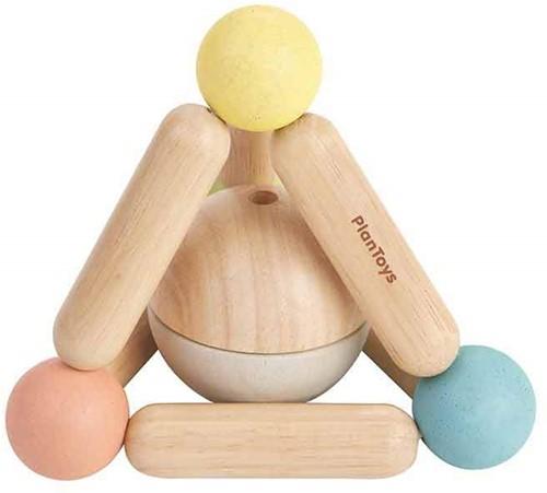 Plan Toys Holzrassel Dreieck Pastell