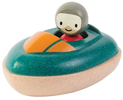 Plan Toys  Holz Badespielzeug Motorboot