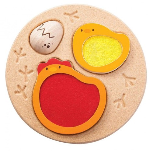 Plan Toys  Holz Formenpuzzle Huhn Puzzle