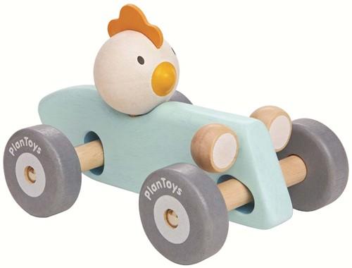 Plan Toys Holz Rennwagen Huhn Pastell