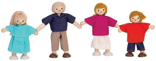 Plan Toys  Holz Puppenhaus Puppen Familie