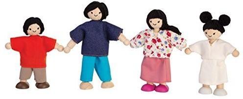 Plan Toys  Holz Puppenhaus Puppen Asiatische Familie