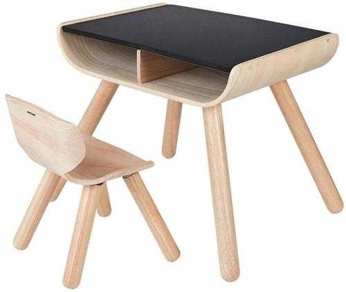 Plan Toys  Holz Kindermöbel Tisch & Stuhl Schwarz
