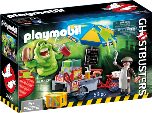 Playmobil Figures Slimer with Hot Dog Stand