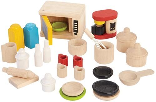Plan Toys Holz Puppenhaus Küchenzubehör
