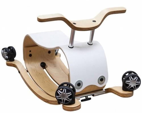 Wishbonebike -  Holz Laufauto - Flip Weiß