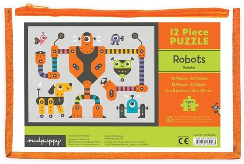 Mudpuppy Legpuzzel Robots 12 stukjes