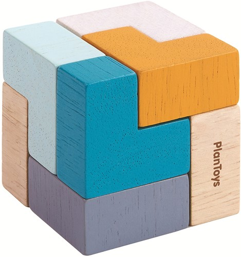 Plan Toys Holzklötze Würfel in der Dose