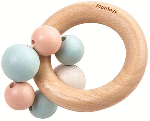 Plan Toys Holz Greifring Perlen Pastell