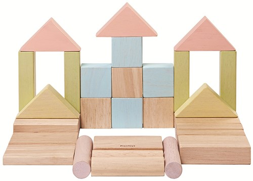 Plan Toys 40 Holzbausteine Pastell
