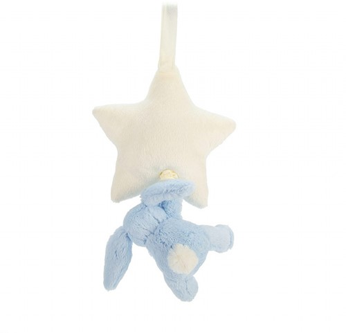 Jellycat  Bashful Spieluhr Hase Blau - 28 cm-3