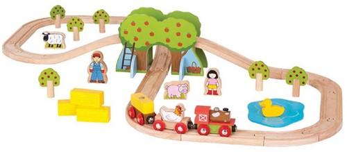 BigJigs Bauernhof Eisenbahn Set