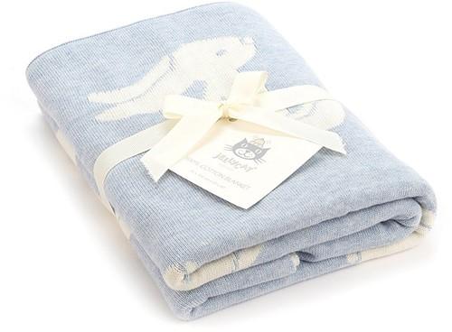 Jellycat Bashful Decke Hase Blau - 100cm