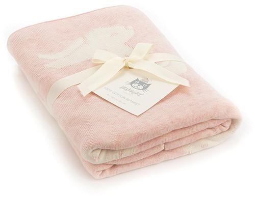 Jellycat Bashful Decke Hase Rosa - 100cm