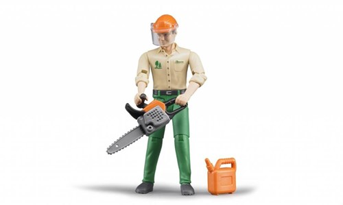 Bruder Forestry worker with accessories - 60030