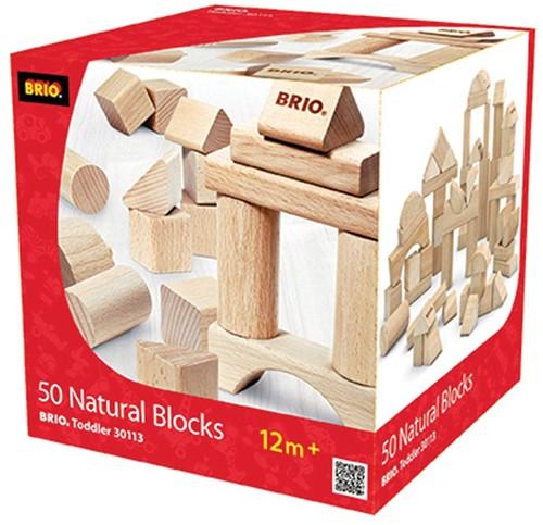 Brio 50 Natur-Holzbausteine 30113-2