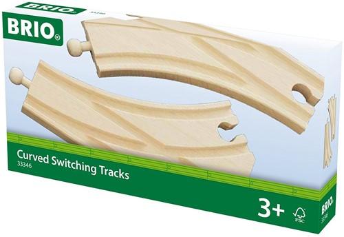 Brio Holz Eisenbahn Schienen Bogenweichen 33346