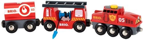 Brio Holz Eisenbahn Feuerwehr-Löschzug 33844