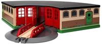 Brio Holz Eisenbahn Gebäude Großer Ringlokschuppen 33736