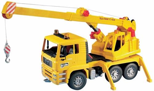BRUDER MAN Crane truck (without Light and Sound Module) Spielzeugfahrzeug
