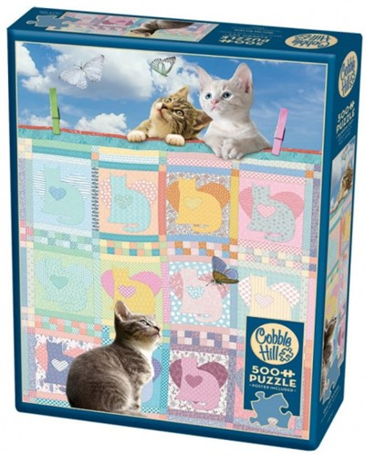 Cobble Hill puzzle 500 Teile - Quilted Kittens