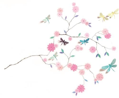 Djeco muursticker 3d Dragonflies tree