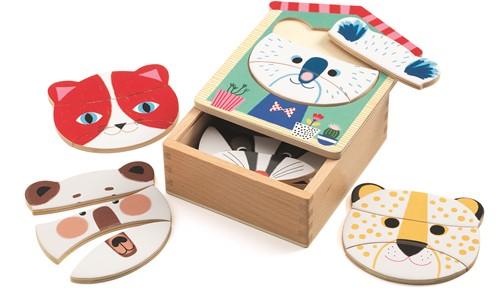Djeco Puzzles bois Face-mix