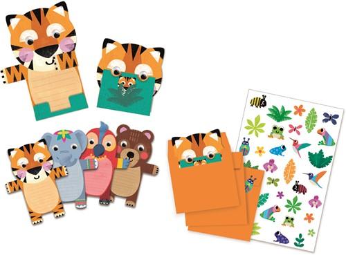 Djeco Wild animals invitation cards - FSC MIX